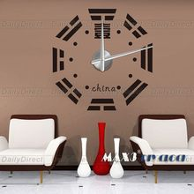 1x Wholesale Adhesive Modern 3D Frameless Large DIY Wall Clock Room China Imitate Nosy Map Sticker Home decor 12S018 MAX3 Brand