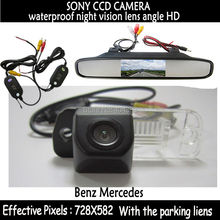 car Parking 2.4G wireless rear view camera+ Car Rearview Monitor for Benz C-Class W203 E-Class W211 CLS-Class 300 W219 R350 R500