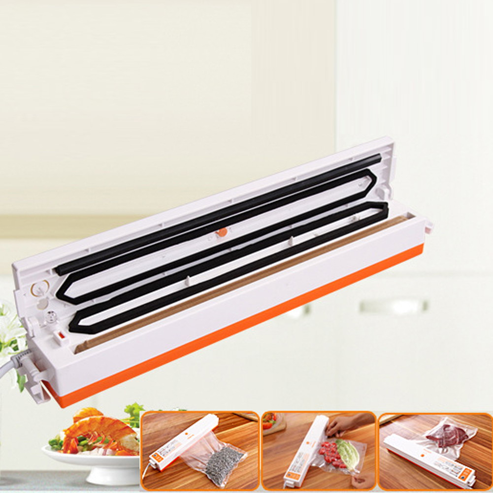 Household Food Vacuum Sealer Packaging Machine 220V Automatic Electric Film Food Sealer Vacuum Packer for All Size Vacuum Bag UL<br>