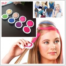 Hot 4pcs/set Hair Chalk Powder Fashion Christmas DIY Temporary Wash-Out Free Shipping M01022(China)