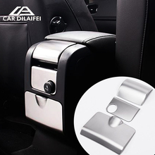 Car Styling special car armrest box decorative cover trim rear ashtray strip car accessories 3D sticker for Volvo XC60 S60 V60