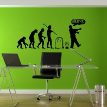 Stickers Wall Art Wall Decals Home Decor Wall Stickers Decor Nursery Ideas Sticker Art Evolution Zombie Undead Horror Alive T489