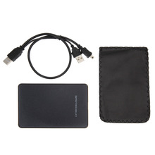"External HDD Enclosure for Hard Disk USB2.0 Sata Durable Portable Case 2.5"" Inch Hdd Hard Drive Case High Quality Black"
