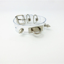 Sexy Kawaii Lolita Handcrafted Spikes Studded Vinyl Bangle Bracelet Handcuff Hand Cuff Wristlet(China)