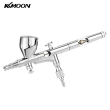 Professionaal Airbrush Set Dual Action spray gun aerografo for Art Paint Tattoo Hobby Model Air Brush Nail Tool 0.2mm 9cc