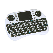 2.4G Mini Wireless QWERTY English Russian Arabic Hebrew Version Keyboard Mouse Touchpad for PC Notebook Android TV Box HTPC