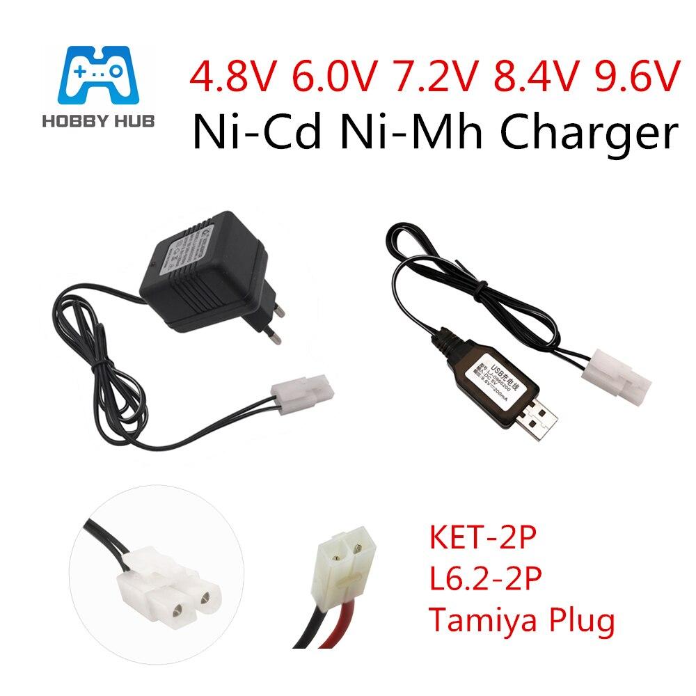 4.8V Battery Pack Rechargeable charger Ni-CD Ni-MH AC110-240V Tamiya US Plug