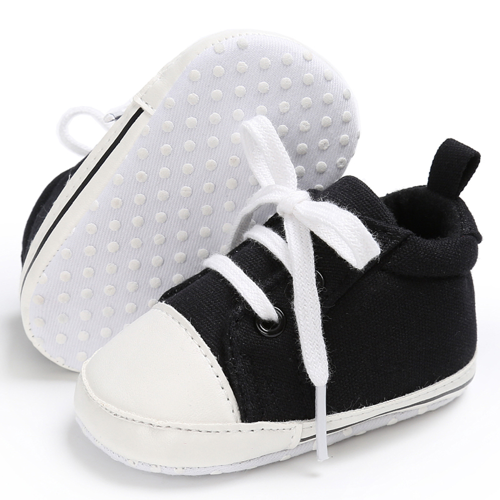 Spring Summer Newborn Canvas Shoes Sneaker Fashion 0-18 Month Baby Girls Boys Solid Soft Sole Shoes Prewalker First Walkers 9