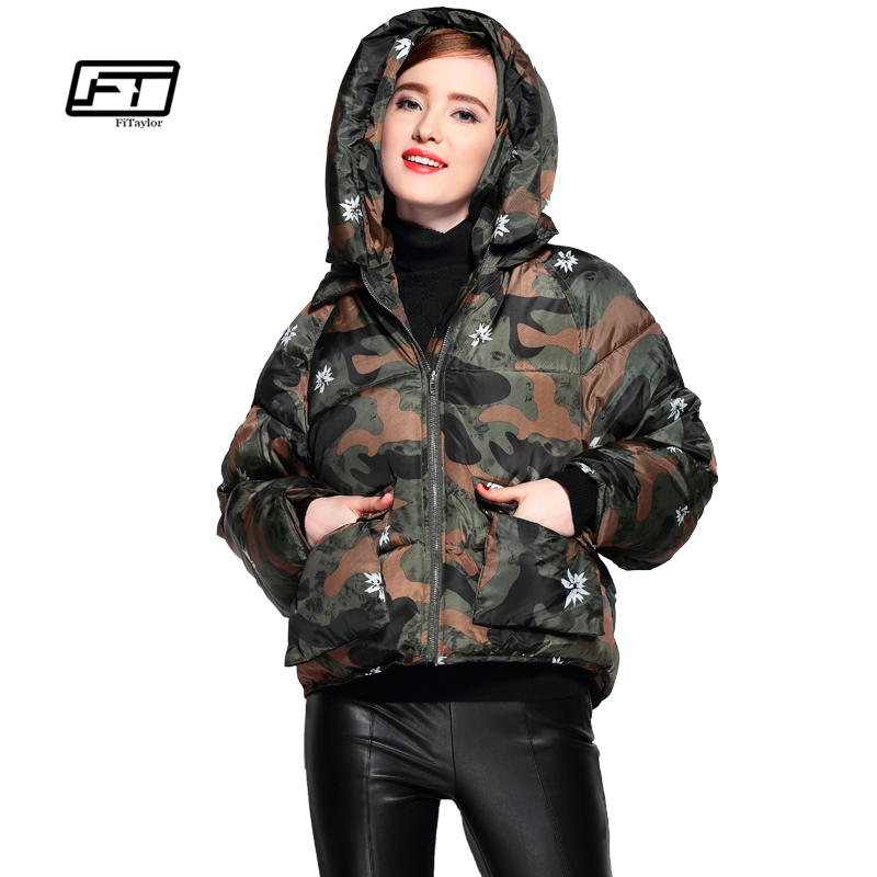 Fitaylor Winter Women Jackets Short Design Cotton Padded Coats Military Army Outwear Warm Hooded Loose Padded Parkas OvercoatÎäåæäà è àêñåññóàðû<br><br>