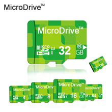 Micro Drive Green Micro SD Card 32GB 16GB 8GB Memory Card SDHC Class6-10 TF Card Microsd High Quality Micro SD Card
