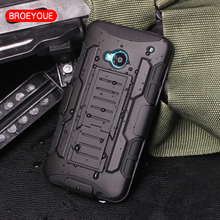 BROEYOUE Case For HTC One M7 M8 M9 Case Cover Shockproof Holster Silicone Hard Case For HTC One M7 M8 M9 Cell Phone Shell Cover(China)