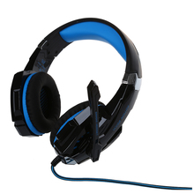 KOTION EACH G9000 Gaming Headset for Play Station 4 Tablet PC iPhone 6 / 6s / 6 Plus / 5s / 5c / 5 Mobilephones, 3.5 mm(China)