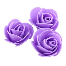 50PCS/Bag Blue Red Purple Orange Deep pink PE Rose Handmade Home Decoration Multi-use Artificial Rose Flower Head New Arrival