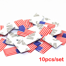 10pcs/lot, New Car styling USA small Decorative Badge Hub caps Steering wheel for BMW audi Peugeot Honda  Car Emblem Sticker