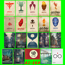 Harry Potter 20/pcs PVC Series Stickers Classic Creative Design collection Gift High quality Printing waterproof Sunscreen