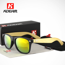 Kdeam High-wear Bamboo Sunglasses Women Farer Fashion Wood Sunglasses Men lentes de sol With Package CE(China)