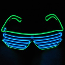Wholesale 100pcs 3Modes quick Flashing EL LED Glasses Luminous Party Lighting Colorful Glowing Classic Toys For Dance DJ, Party(China)