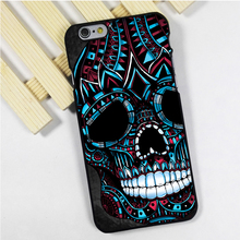 Fit for iPhone 4 4s 5 5s 5c se 6 6s 7 plus ipod touch 4 5 6 back skins phone case cover Sugar skull mexican aztec tattoo