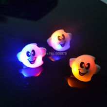 Free shipping 6pcs/lot LED flashing ghost ring flash finger ring LED finger light ring for Halloween Party favor