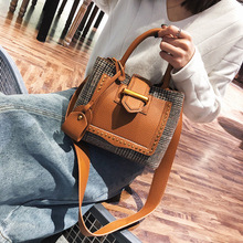 Luxury Brands Winter Women Wool Shoulder Bag Famous Brands Michael Handbag Fashion Rivet Composite Bags Sac A Main Femme(China)