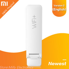 English Xiaomi WIFI Repeater 2 Amplifier Extender 300Mbps Amplificador Wireless Wi-Fi Router Expander Roteador for Mi Router(China)