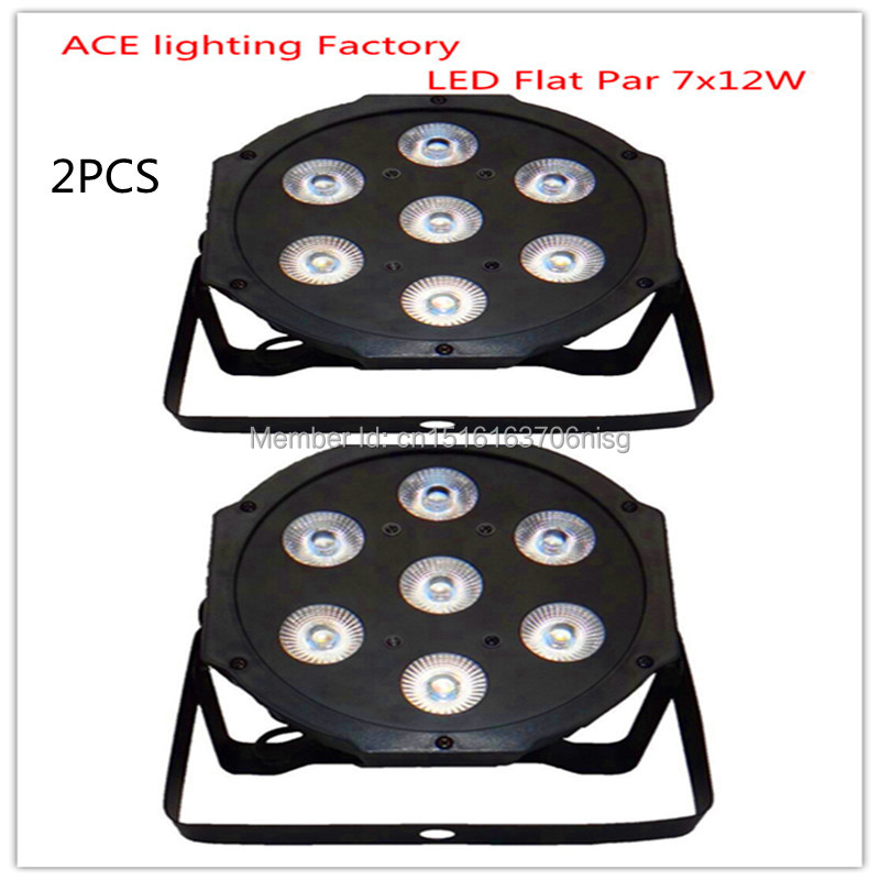 2pcs/lot Free&amp;Fast shipping hot selling good quality flat led par 7x12w rgbw quad stage wash light led lamp chandelier<br>