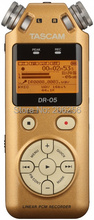 Tascam dr-05 professional voice recorder dr05 gold color digital recording pen