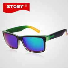 STORY NO LOGO Hot Brand Designer Polarized Sunglasses Fashion Square Sun Glasses Outdoor Eyewear Men oculos de sol