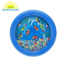 Popular Drum Toy Musical Instrument Ocean Wave Bead Drum Sea Sound Educational Musical Kids Toy Tools