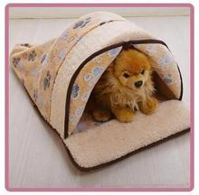 coral fleece soft and warm cat beds, pet cage, cat house , Cat sleeping bag with curtain