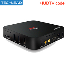 V88plus Android IPTV Set Top Box With Swedish French Portugal Dutch IUDTV Account Arabic Italy Sports Russian Apk Code English(China)