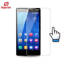hacrin Huawei Honor 3C Tempered Glass Flim + Back Protector Film 9H 2.5D Accessory For Huawei Cell Phone + Free shipping