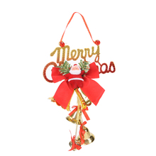 JETTING Santa Claus bell Merry Christmas decorations products Christmas bell ornaments New Year gifts shop door pendant(China)