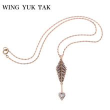 wing yuk tak Fashion Brand Jewelry Vintage Personalized Silver Link Short Vintage Heart Pendant Necklace For Women Maxi Necklace(China)