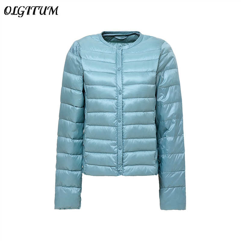 36aaaff77b3 Detail Feedback Questions about S 4XL Women New 90% White Duck Down Parka  Coat Ultra Light Duck Down Jacket Round Neck Slim Short Jacket Portable Coat  Plus ...