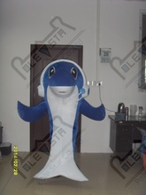 big foam earphone dolphin mascot costumes customzied hot sale blue ocean animal costumes