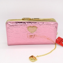 2017 new style cartoon wallet female hello kitty cute clutches High-quality pu(China)