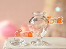 Mini dollhouse  Mini furniture accessories for glass belly small mouth small vase carved elegant perfume bottles