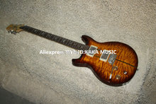 Wholesale Newest Left Handed Santana Electric Guitar Tiger Wave High Quality HOT free shipping(China)