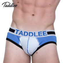 Taddlee Brand 4pcs Sexy Design Low Rise Men Underwear Briefs Cotton Gay Penis Pouch Mini Bikini Solid Color Basic Brief Lot