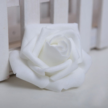 PHFU 100PCS Foam Rose Flower Bud Wedding Party Decorations Artificial Flower Diy Craft White