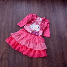 4 5 6 ages girls spring and autumn hello kitty dress kids cotton dress for autumn kids clothing