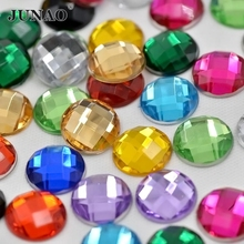 10mm Mix Color Crystal Flatback Rhinestone Beads Round Acrylic Glue On Strass Bridal Crystals Stones for Dress Clothes Crafts(China)