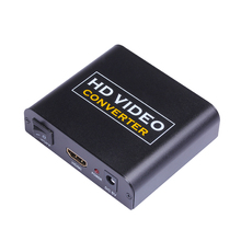 YITROX YT-HHA HDMI Audio Splitter Video Converter 3D Turn 3.5 mm Fiber 5.1 Audio Channel HD 4K*2K Conversion Decoding PS4 Black