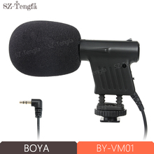 Boya BY-VM01 Professional Video Broadcast Directional Condenser Microphone for Nikon Canon Sony Gopro DSLR Camera Camcorder(China)