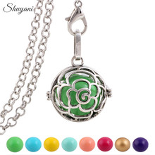 1PCS Silver Mexican Bola Harmony Ball Caller Pendant for Pregnant Women Fashion Floating Locket Angel Wings Pendants(China)