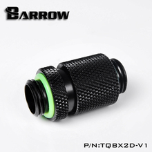 "Barrow G1/4"" Retractable travel 3MM Male to Male Rotary Connectors / Extender (20.2-23.2mm) PC water cooling system TQBX2D-V1(China)"