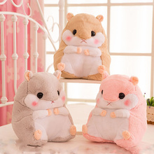 New Item 1Pc 35x30Cm Plush doll hamster squirrel warm office cushion + blanket (160x100Cm) stuffed toy Kids Girls Birthday gift