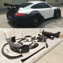 FRP car body kit with Optional accessories front rear bumper lip spoiler side skirts trunk fende for Porsche 911 2006-2011