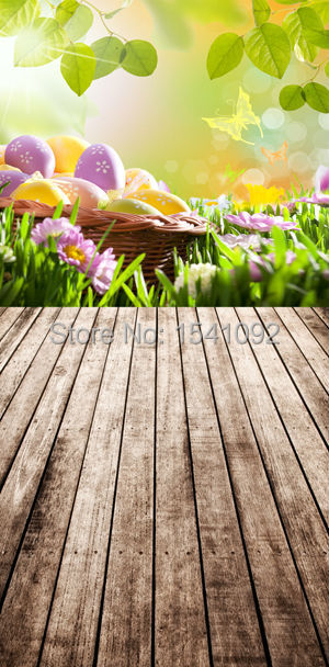 1.5X3M Customize vinyl photography backdrop newborn easter wood computer print  background for photo studio F081<br><br>Aliexpress